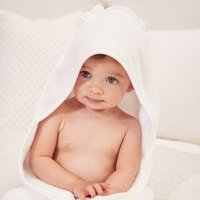 Large Hydrocotton Hooded Towel , White, Large