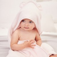 Girls Hooded Bear Towel , Pink, Small