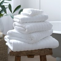 Hydrocotton Towels, White, Bath Sheet