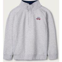 Half-Zip Sweatshirt (1-6yrs), Grey, 1 1/2-2yrs