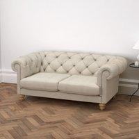 Hampstead 2 Seater Sofa Linen Union, Natural Linen Union, One Size