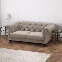Hampstead 2 Seater Velvet Sofa, Stone Velvet, One Size