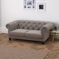 Hampstead 2 Seater Velvet Sofa, Silver Grey Velvet, One Size