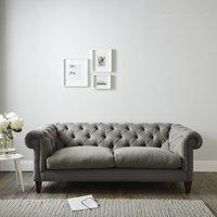 Hampstead 3 Seater Sofa Cotton, Grey Cotton, One Size