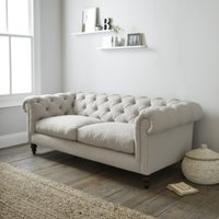 Hampstead 3 Seater Sofa Cotton, Silver Cotton, One Size
