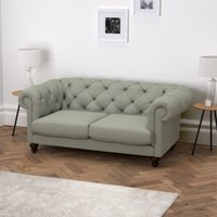 Hampstead 3 Seater Sofa Wool, Light Grey Wool, One Size
