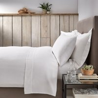 Harrison Duvet Cover, White, Single