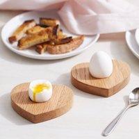 Heart Egg Board, Oak, One Size