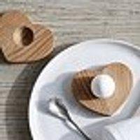 Heart Egg Pinch Pot – Set of 2, Neutral, One Size