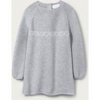 Heart Knitted Dress, Grey, 9-12mths