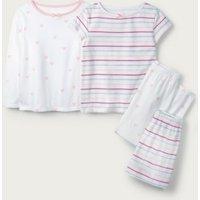 Heart Stripe Pyjamas - Set of 2 (1-12yrs), Multi, 9-10yrs