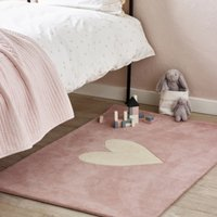 Heart Tufted Rug, Pink, One Size