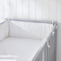 Heritage Cot Bumper	, White, One Size