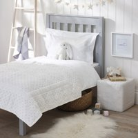 Heritage Quilt, White, Cot Bed