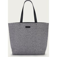 Herringbone Reversible Shopper Bag, Grey, One Size