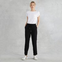 Honeycomb Tapered Trousers, Black, 16