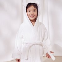 Hydrocotton Robe with Ears (1-5yrs), White, 4-5yrs