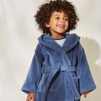 Hydrocotton Toddler Robes (2-5yrs), Blue, 1-1 1/2yrs