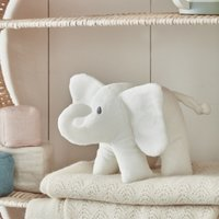 Indy Elephant with Crinkle Ears, White, One Size