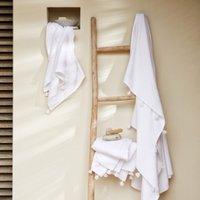 Ines Ibiza Towels, White, Bath Towel