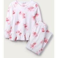 Isabella Print Pyjamas (1-12yrs), White/Pink, 9-10yrs