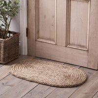 Braided Oval Doormat , Natural, One Size