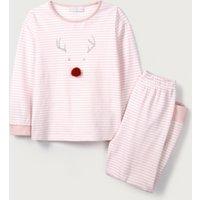 Jingles Reindeer Face Pyjamas (1-12yrs)