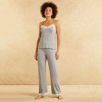Stripe Lace Back Pyjama Set