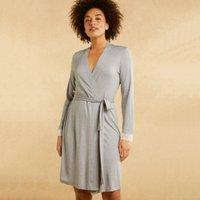 Stripe Lace Trim Robe