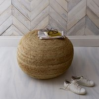 Jute Pouffe, Natural, One Size