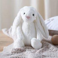 Jellycat Bashful Bunny Medium Toy, White, One Size