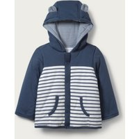 Jersey Coat with Bear Ears	, Navy/White, 9-12mths