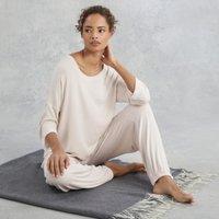 Jersey Rib Pyjama Set, Cloud Pink, Extra Large