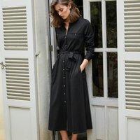 Jersey Utility Pocket Midi Dress, Black, 10