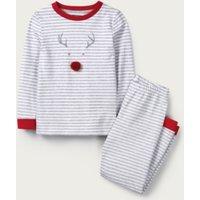 Jingles Stripe Pyjamas (1-12yrs), Grey Stripe, 1-1 1/2yrs