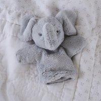 Kimbo Elephant Puppet Toy, Grey, One Size