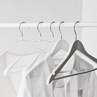 Knitwear Wide End Hangers – Set of 6, White, One Size