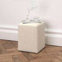 Langley Cotton Stool, Pearl Cotton, One Size