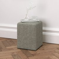 Langley Stool Tweed, Tweed Mid Grey, One Size