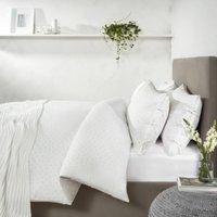 Laurent Duvet Cover & Pillowcase Set, White Grey, Single