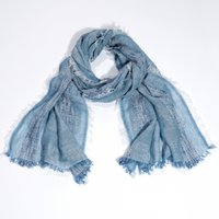 Linen-Rich Chambray Scarf