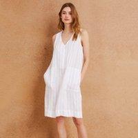 Linen Stripe Shift Dress
