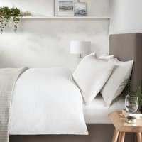 Devon Seersucker Duvet Cover, White, Double