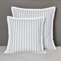 Logan Cushion Covers, White Blue, Medium Square