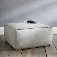image-Square Wool Pouffe