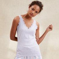 Cotton Lace Trim Vest