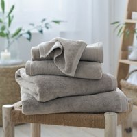 Waffle Edge Spa Towels, Pebble, Bath Sheet