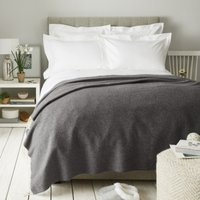 Cashmere Throw, Charcoal, One Size