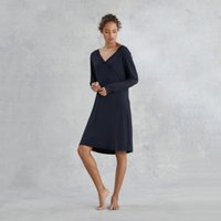 Lace Cross Over Nightie, Navy, Extra Large