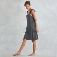 Lace Flutter-Sleeve Nightie, Storm Grey, Small